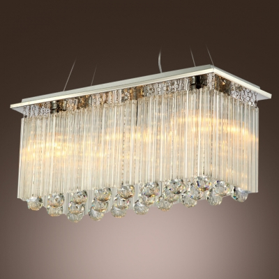 Bring Sparkle to Entryway or Dining Room with Elegant Large Modern Crystal Chandelier