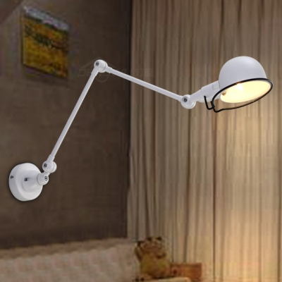 Chic and Lovely White Industrial Wall Light with Boom Arm in 35.4 ...