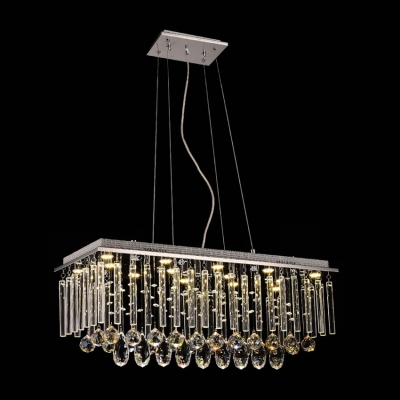 Full of Grace and Chic Style Stunning Pendant Light Features Glamorous Lead Crystals