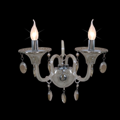 Graceful Two Candle Lights Wall Sconce Offers Gleaming Embelishment Perfect for Living Room