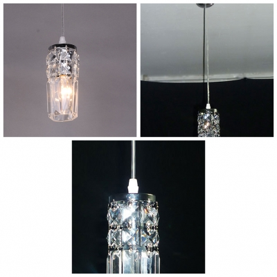 Hand-cut Clear Crystal Add Elegance to Exquisite and Chic Pendant Light for Illumination