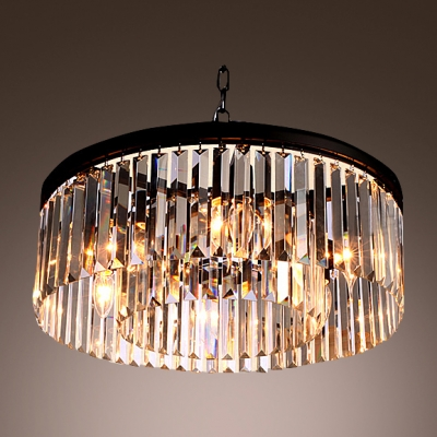 Fashion style glass prism ceiling lights crystal lights lustrous pendant chandelier gracefully encircled with sparkling square and rectangular crystals aloadofball Images