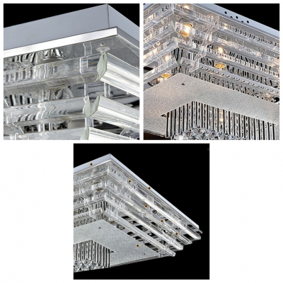 Rectangular Clear Crystal Glass Shade 17.7