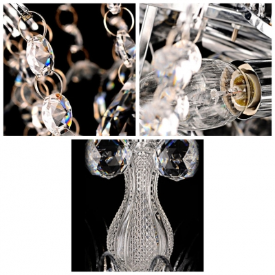 Sparkling Crystal Balls Waterfall and Clear Crystal Column 14.9