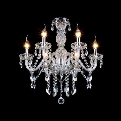 Striking Chandelier Packs Tons of Traditional Glamour into Compact Design with Lovely Crystal