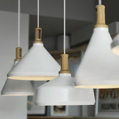 large pendant lighting. Large Pendant Lighting With Wood Holder, Aluminum Modern And Chic White Finished E