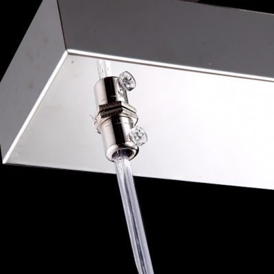 Amazing Tubular Shade and Delicate Square Base Add Charm to Stunning Island Light Creating Contemporary Addition