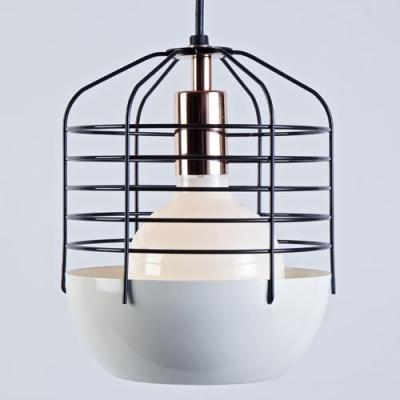 Blue Iron Cage Designer Mini Pendant Lighting