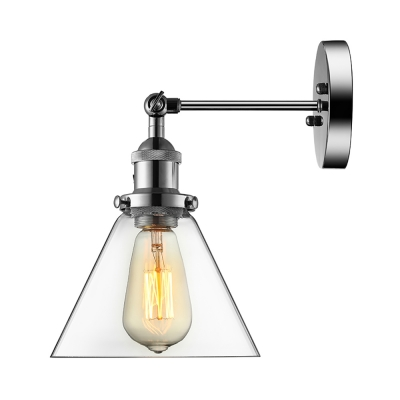 Cone Glass Shaded LED Mini Wall Sconce with One Light