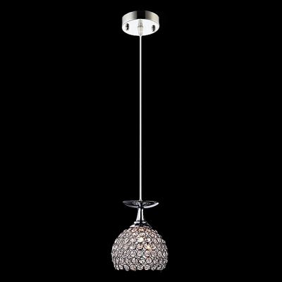 Contemporary and Chic Half Globe Crystal Beads Embedded Mini Pendant