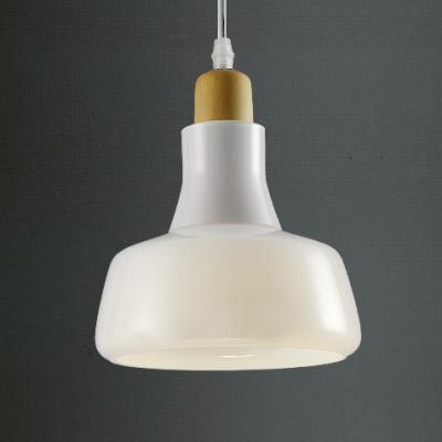 Contemporary Smoke/White Industry Mini Glass Pendant