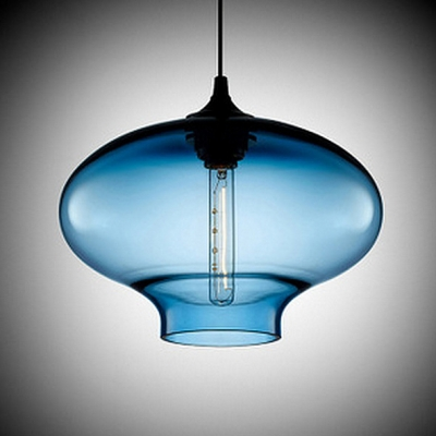 Downward Industrial Colored Glass LOFT Chandelier Pendant