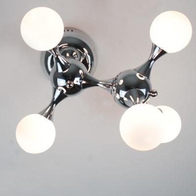 DNA Chrome Flush Mount Ceiling Light Five-light