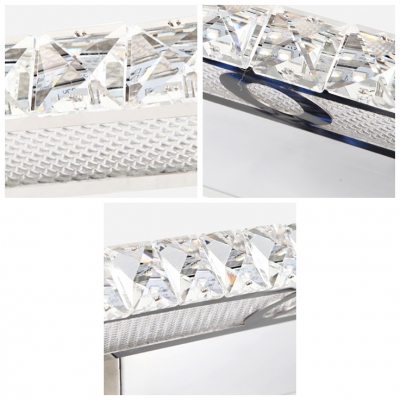 Glamorous Design Light Features Built in LEDs with Clear Crystal Glass Insets for Sparkle