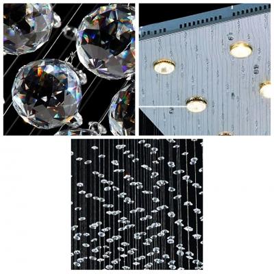 Hanging Crystal Balls and Beads 9-Light 39.3