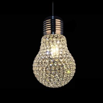 Large Crystal Bulb Sparkling LED Single Light 11.8