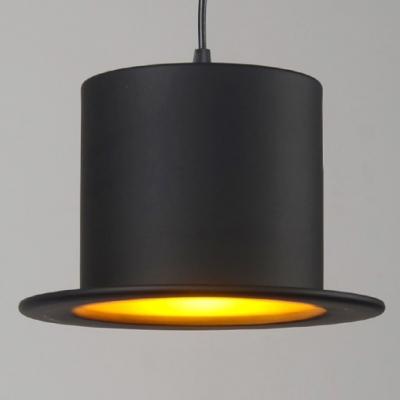 "Lovely And BeautifulHat Shaped Designer Pendant Lighting 11.8""Wide Black"