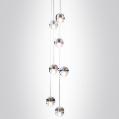 Cascade Glass Ball Pendant Light 7 Light ...