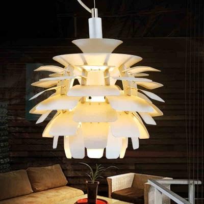 Metal Pine cone Designer Lighting Pendant In 15 Inches