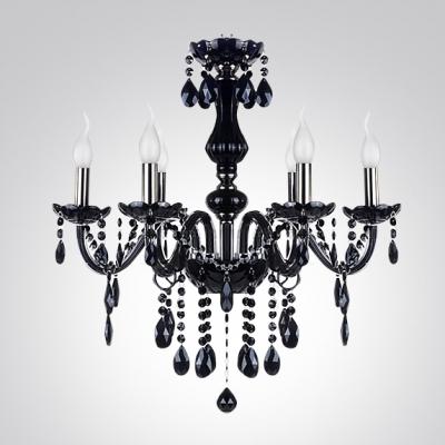 Six Lights Shinning Crystal Droplets Embellished 19.6