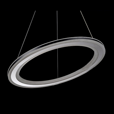 Black Pratical Simple LED Round Pendant in One Tier 13