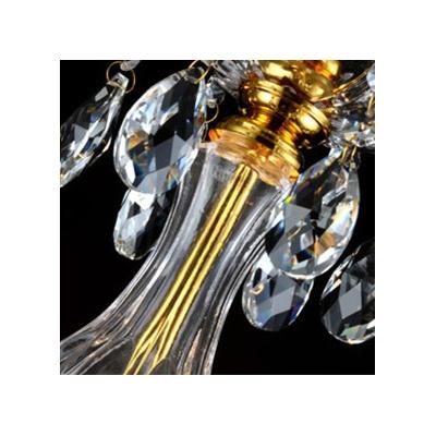 Brilliant Five Lights Glistening Crystal Droplets Embellished 23.6