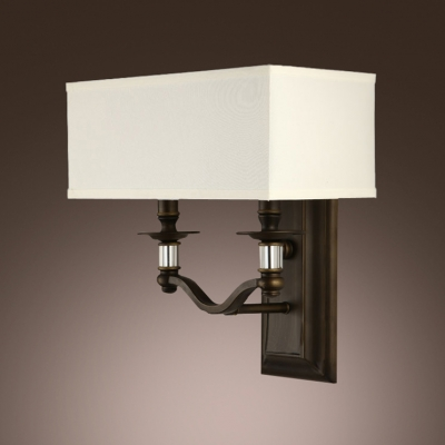 Dazzling Wall Sconce Features Two-light Design and Clear Majestic Crystal Accents with  Half  Drum Shade