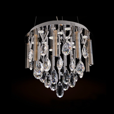 Extravagant and Sparkling 10-Light LED Crystal Large Pendant Lighting