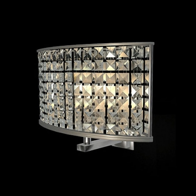 Gleaming One Light Wall Sconce with Modern Iron Oval Clear Shade Creating Warm Illumination