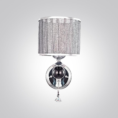 Glittering Modern Wall Sconce Features Beautiful Crystal Drops and Polished Chrome Finish Offers Glamorous Embellishment