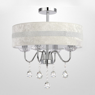 Hanging Stunning Clear Crystal 4 Light Chandelier Ceiling Lights