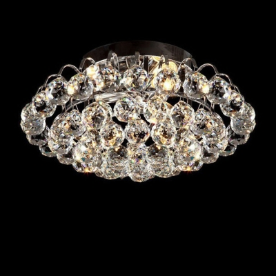 Luxurious Gold Finished Frame Hanging Clear Crystal Balls 19.6