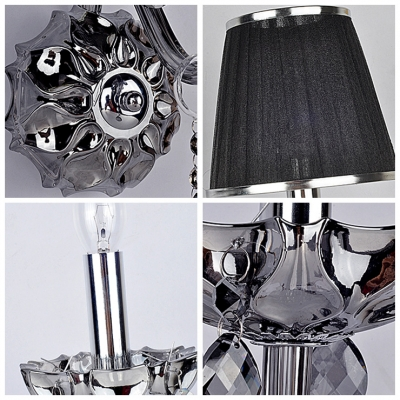 Round and Chrome Back Plate Add Elegance to Striking Single Light Wall Sconce