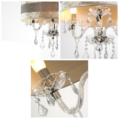 Stunning plastic crystal embedded shade clear crystal droplets stunning plastic crystal embedded shade clear crystal droplets chandelier ceiling light aloadofball Image collections