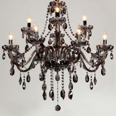 Two-Tiered Elegant Glass arms 12-Light 31.5