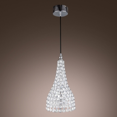 Brilliant and Striking Clear Crystals Accented Mini Pendant Lighting