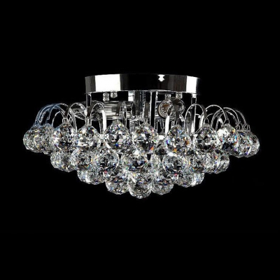 Brilliant Crystal Semi Flushmount light fixture with Dazzling ...