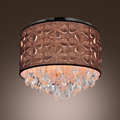 Brown Fabric Shade 5-Light 15.7