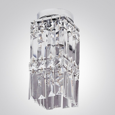 Complement Your Home with Sophisticated Crystal Semi-flushmount ceiling light.