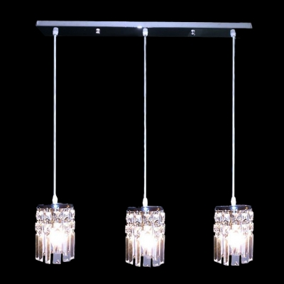 Delightful Ceiling Fixture Features Array of Crystal Lights Perfect for Any Dining Rooms and More