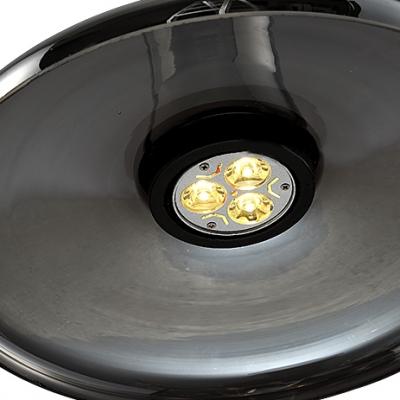 Disc Shape Smoke/White Industry LOFT Glass Pendant