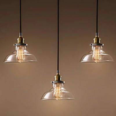 ... Industrial Bronze 5 Light LED Multi-Light Pendant With Clear Glass Shade & Industrial Bronze 5 Light LED Multi-Light Pendant With Clear Glass ...
