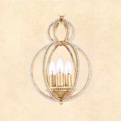 Hand-worked Wrought Iron Combines with Shimmering Crystal Pendants Offers Unique Design