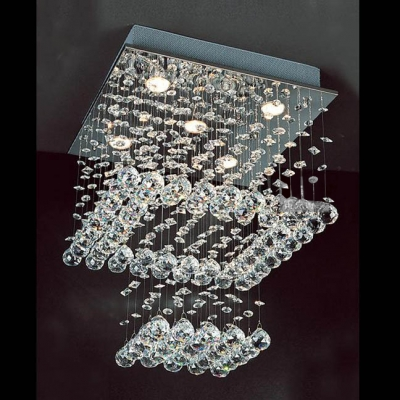 Fashion Style Spiral Chandeliers Crystal Lights - Beautifulhalo.com