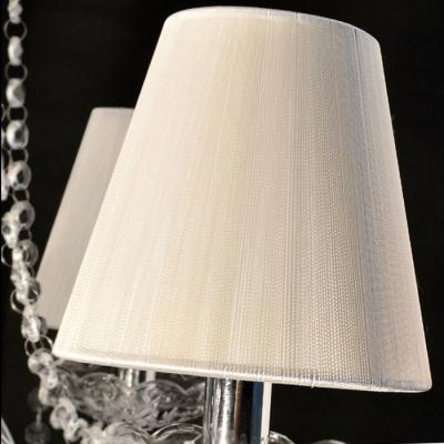 Opulent Strands of Clear Rock Crystal 4-Light Bedroom Light Chandelier