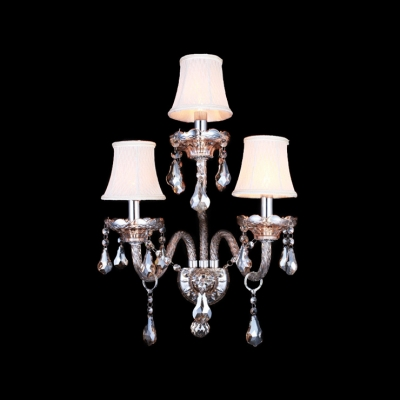 Splendid Candelabra Style Wall Sconce Featured Lead Hand-cut Crystal and Sleek Scrolling Arms