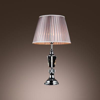 Table Lamp with Clear Crystal and Chrome Finish Makes Classic Urn Style Lamp
