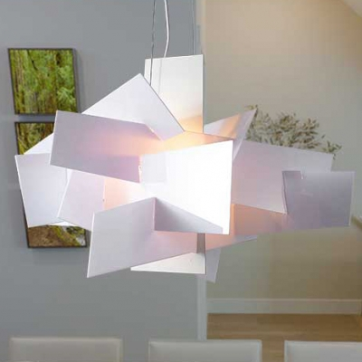 White Acrylic Novel Suspension Pendant Light