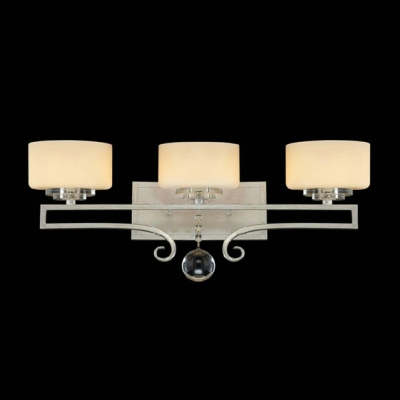Accent Your Wall Decor with Beautiful Chrome and Crystal Three Light Wall Sconce