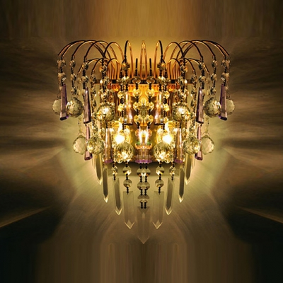 Add Dramatic Touch to Your Home Decor with Enchanting Crystal Wall Sconce